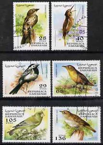 Sahara Republic 1997 Birds complete set of 6 values cto used