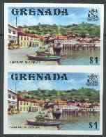 Grenada 1975 Carenage $1 unmounted mint imperforate pair (as SG 664)