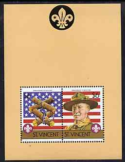 St Vincent 1986 Boy Scouts of America m/sheet containing 2 x $6 values unmounted mint, SG MS 972