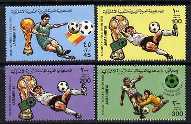 Libya 1982 Football World Cup set of 4 unmounted mint SG 1180-3