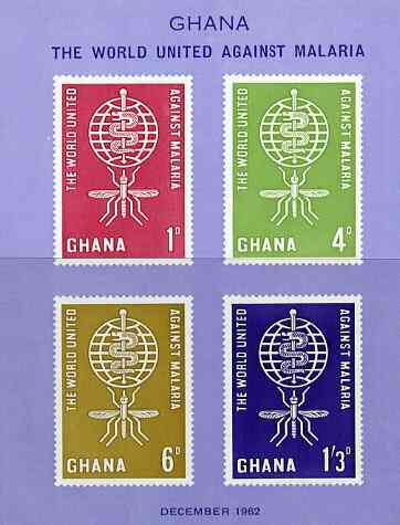 Ghana 1962 Malaria Eradication imperf m/sheet unmounted mint, SG MS 299a