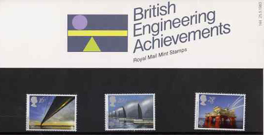 Great Britain 1983 Europa - Engineering Achievements set of 3 in official presentation pack SG 1215-17