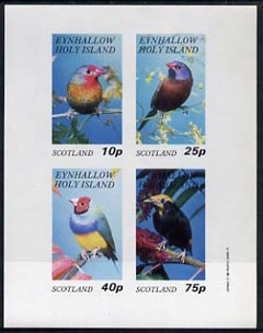 Eynhallow 1982 Birds #14 imperf  set of 4 values (10p to 75p) unmounted mint