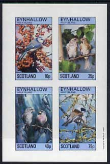 Eynhallow 1981 Birds #15 imperf  set of 4 values (10p to 75p) unmounted mint