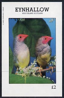 Eynhallow 1982 Love Birds imperf deluxe sheet (�2 value) unmounted mint