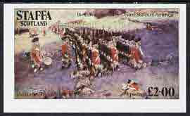 Staffa 1979 USA Bicentenary (Painting of Battle of Bunker Hill) opt'd Apollo 11 - 10th Anniversary in black imperf deluxe sheet (�2 value) unmounted mint