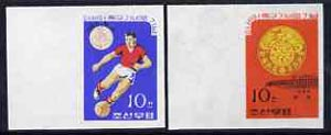 North Korea 1965 'Ganefo' Football Games imperf set of 2, as SG N604-605*