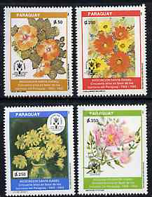 Paraguay 1993 Leprosy Association (Flowers Paintings) unmounted mint set of 4, SG 1394-97