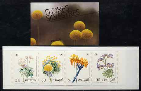 Booklet - Portugal 1989 Wild Flowers 276E booklet complete and pristine, SG SB52