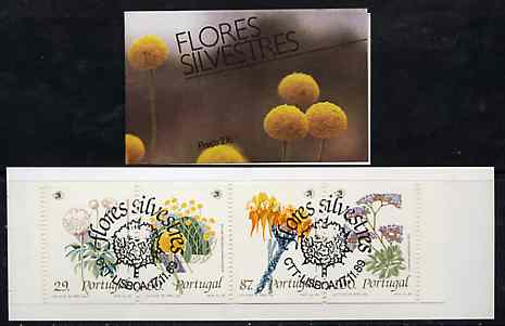 Booklet - Portugal 1989 Wild Flowers 276E booklet complete with first day commemorative cancel, SG SB52