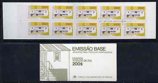 Booklet - Portugal 1985 Architecture 200E booklet complete and pristine, SG SB26