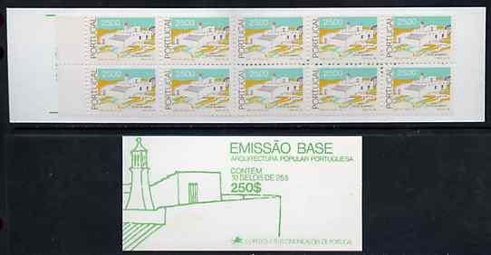 Booklet - Portugal 1987 Architecture 250E booklet complete and pristine, SG SB36