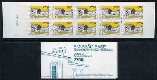 Booklet - Portugal 1988 Architecture 270E booklet complete and pristine, SG SB46