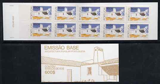 Booklet - Portugal 1990 Architecture 600E booklet complete and pristine, SG SB54