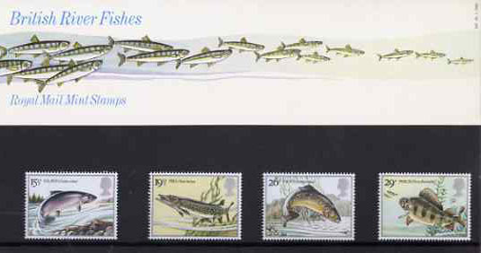 Great Britain 1983 British River Fishes set of 4 in official presentation pack SG 1207-10