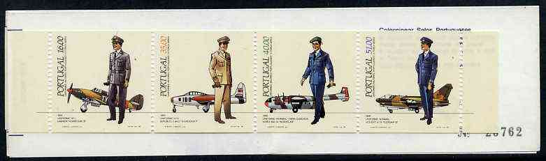 Booklet - Portugal 1984 Air Force Uniforms 142E booklet complete and very fine, SG SB24