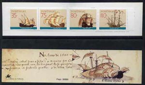 Booklet - Portugal 1991 16th Century Explorer's Ships 300E booklet complete and pristine, SG SB59, stamps on explorers    ships