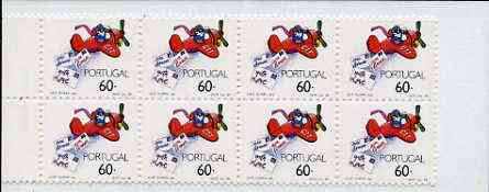Booklet - Portugal 1989 Greetings (Airplane dropping letters) 480E booklet complete and pristine, SG SB50