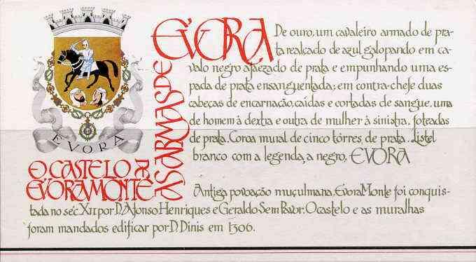 Booklet - Portugal 1987 Evora-Monte Castle 100E booklet complete and pristine, SG SB35