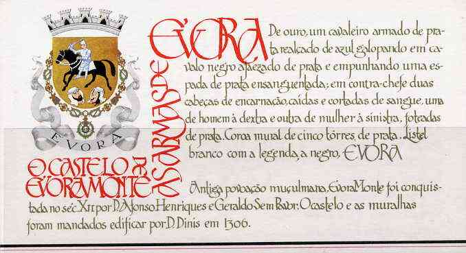 Booklet - Portugal 1987 Evora-Monte Castle 100E booklet complete with first day commemorative cancel, SG SB35