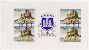 Booklet - Portugal 1988 Almourol Castle 108E booklet complete with first day commemorative cancel, SG SB42