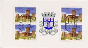 Booklet - Portugal 1986 Guimaraes Castle 90E booklet complete with first day commemorative cancel, SG SB31