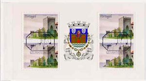 Booklet - Portugal 1988 Fernandine Walls Castle 108E booklet complete with first day commemorative cancel, SG SB41