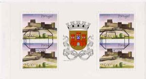 Booklet - Portugal 1987 Trancosa Castle 100E booklet complete with first day commemorative cancel, SG SB38