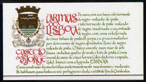 Booklet - Portugal 1987 St George's Castle 100E booklet complete with first day commemorative cancel, SG SB40