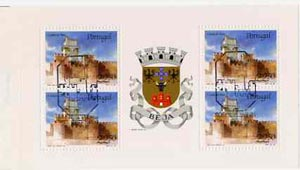 Booklet - Portugal 1986 Beja Castle 90E booklet complete with first day commemorative cancel, SG SB28