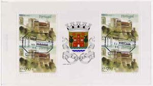 Booklet - Portugal 1987 Leiria Castle 100E booklet complete with first day commemorative cancel, SG SB37
