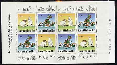 Booklet - Finland 1994 Moomin 8 klass booklet complete and pristine, SG SB42