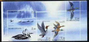Booklet - Finland 1993 Water Birds 11m50 booklet complete and pristine, SG SB40