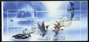 Booklet - Finland 1993 Water Birds 11m50 booklet complete with first day commemorative cancel, SG SB40