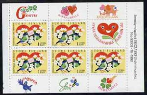 Booklet - Finland 1993 Friendship 21m booklet complete and pristine, SG SB35