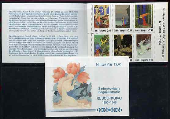 Booklet - Finland 1990 Rudolph Koivi (Artist) 12m booklet complete and pristine, SG SB29