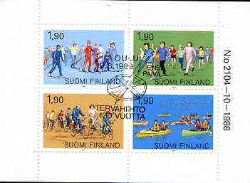 Booklet - Finland 1989 Sport 7m60 booklet complete with first day commemorative cancel, SG SB27