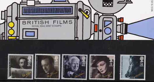 Great Britain 1985 British Film Year set of 5 in official presentation pack SG 1298-1302
