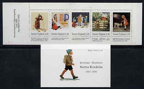 Booklet - Finland 1993 Martta Wendelin (Artist) 11m50 booklet complete and pristine, SG SB39
