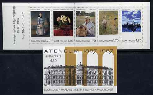 Booklet - Finland 1987 Centenary of Ateneum Art Museum 8m50 booklet complete and pristine, SG SB21