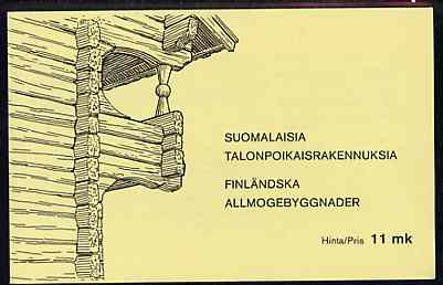 Booklet - Finland 1979 Peasant Architecture 11m booklet complete and pristine, SG SB14