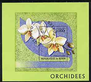 Benin 1997 Orchids m/sheet cto used