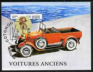 Benin 1997 Vintage Cars m/sheet cto used SG MS 1651