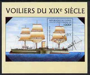 Guinea - Conakry 1997 Ships m/sheet cto used, stamps on ships
