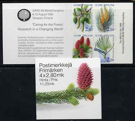 Booklet - Finland 1995 Forestry Research 11m20 booklet complete and pristine