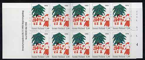 Booklet - Finland 1993 Christmas 18m booklet complete and pristine, SG SB41