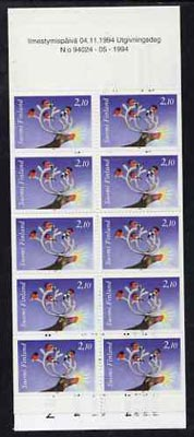 Booklet - Finland 1994 Christmas 21m booklet complete and pristine