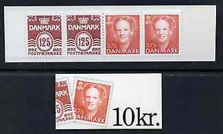 Booklet - Denmark 1992 Numeral & Margrethe 10k booklet complete & fine, SG SB147