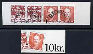 Booklet - Denmark 1992 Numeral & Margrethe 10k booklet complete with first day cancel, SG SB147
