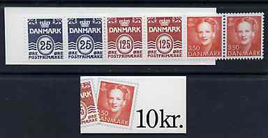Booklet - Denmark 1991 Numeral & Margrethe 10k booklet complete & fine, SG SB139